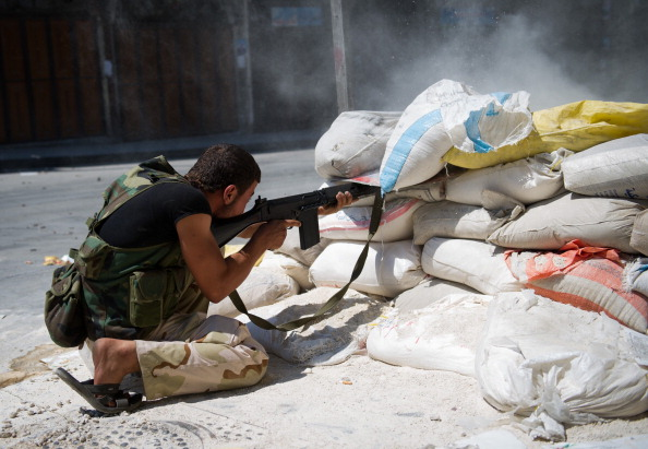 A Syrian rebel from the Free Syrian Army